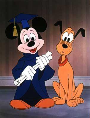 Studierte Maus: 1930 bekam Micky Maus den Hund Pluto an seine Seite