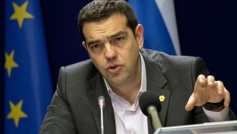Will Kanzlerin Angela Merkel heute mit seinem Reformprogramm überzeugen: Griechenlands Ministerpräsident Alexis Tsipras