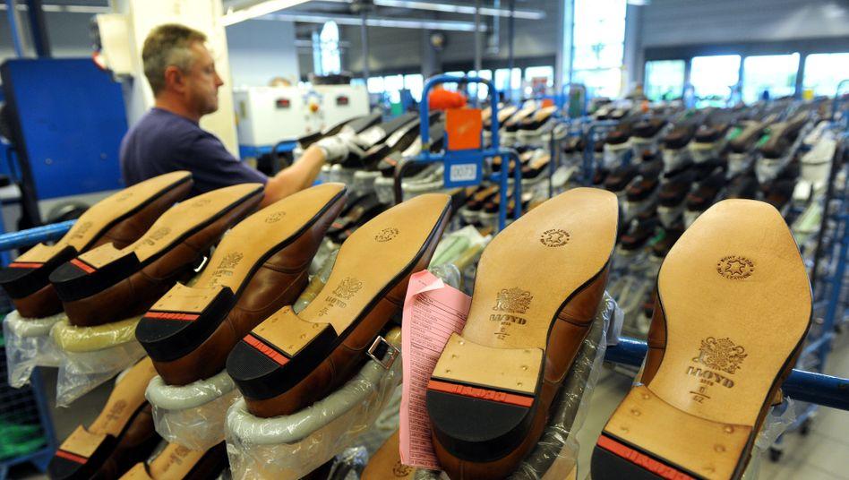 Auslaufmodelle: Schuhe aus der Lloyd-Fabrik in Sulingen.