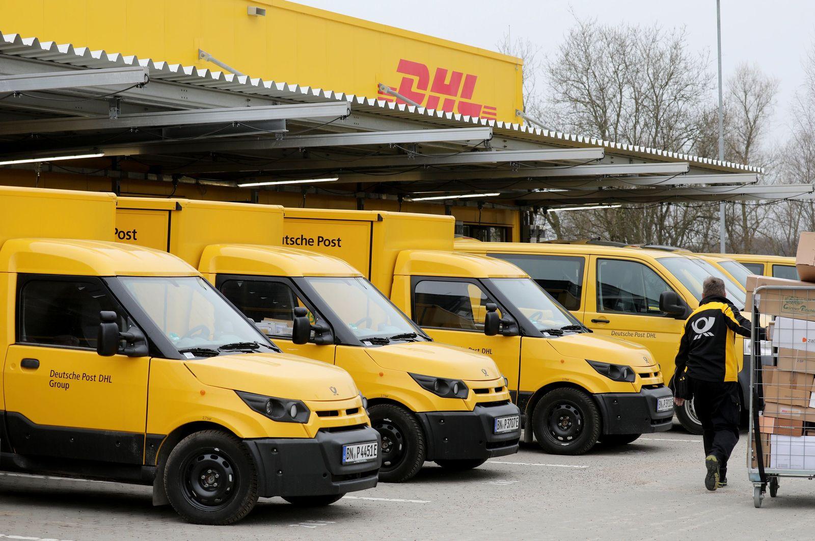 Elektro-Kleintransporter bei der Deutschen Post