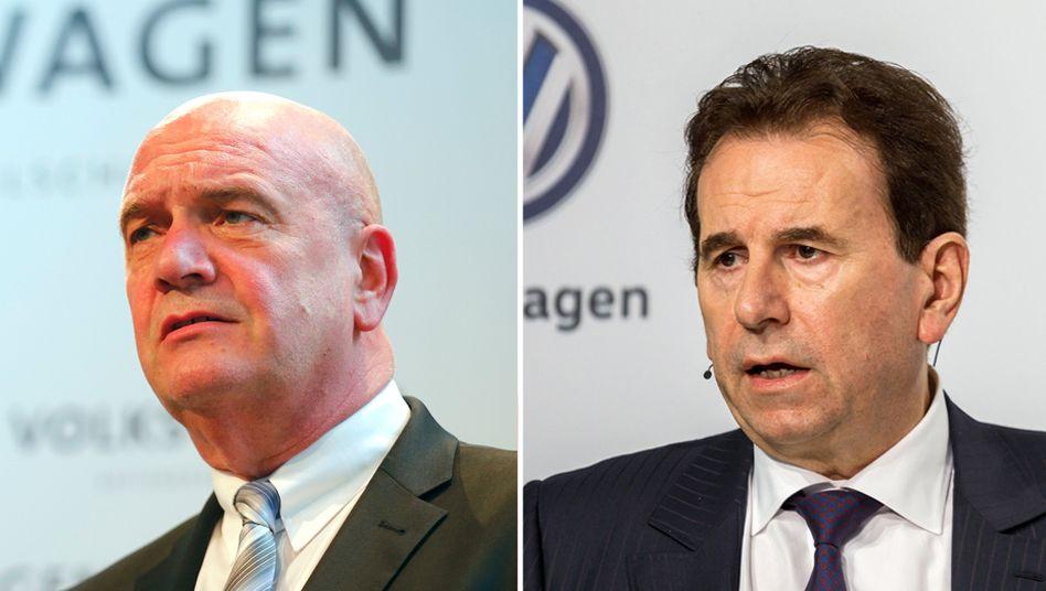 Sind sich gerade nicht grün: VW-Konzernbetriebsratschef Bernd Osterloh (l.) und Personalchef Karlheinz Blessing
