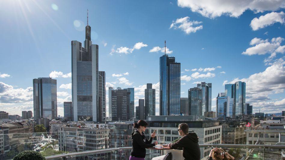 Blick auf Frankfurter Bankenviertel