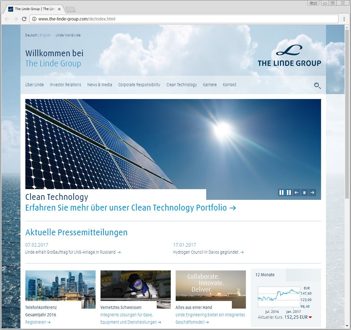 SCREENSHOT the-linde-group.com
