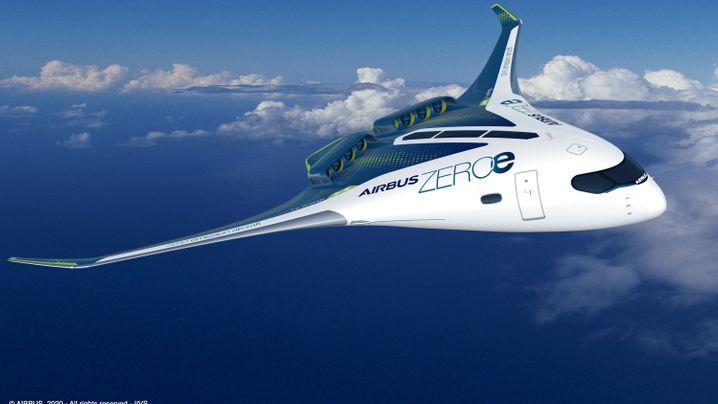 So sollen die Wasserstoff-Flieger von Airbus aussehen