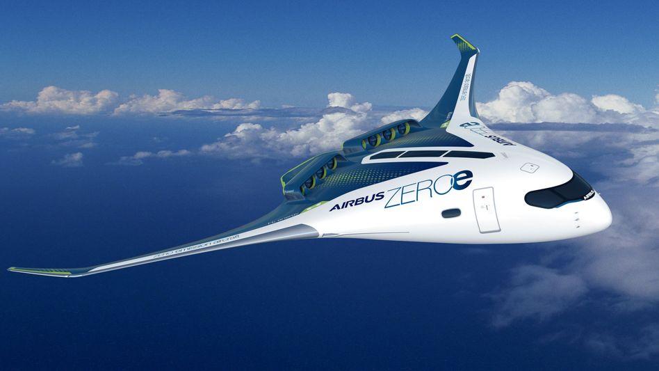 Studie eines Wasserstoffflugzeugs von Airbus: Spätestens 2035 will der Konzern solche Maschinen auf den Markt bringen