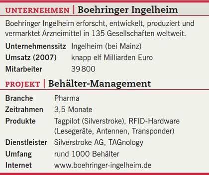 Boehringer Ingelheim: Das Projekt Behältermanagement