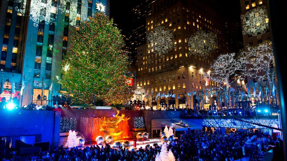 Weihnachtbaum am Rockefeller Center in New York: Leuchtet zum 79. Mal