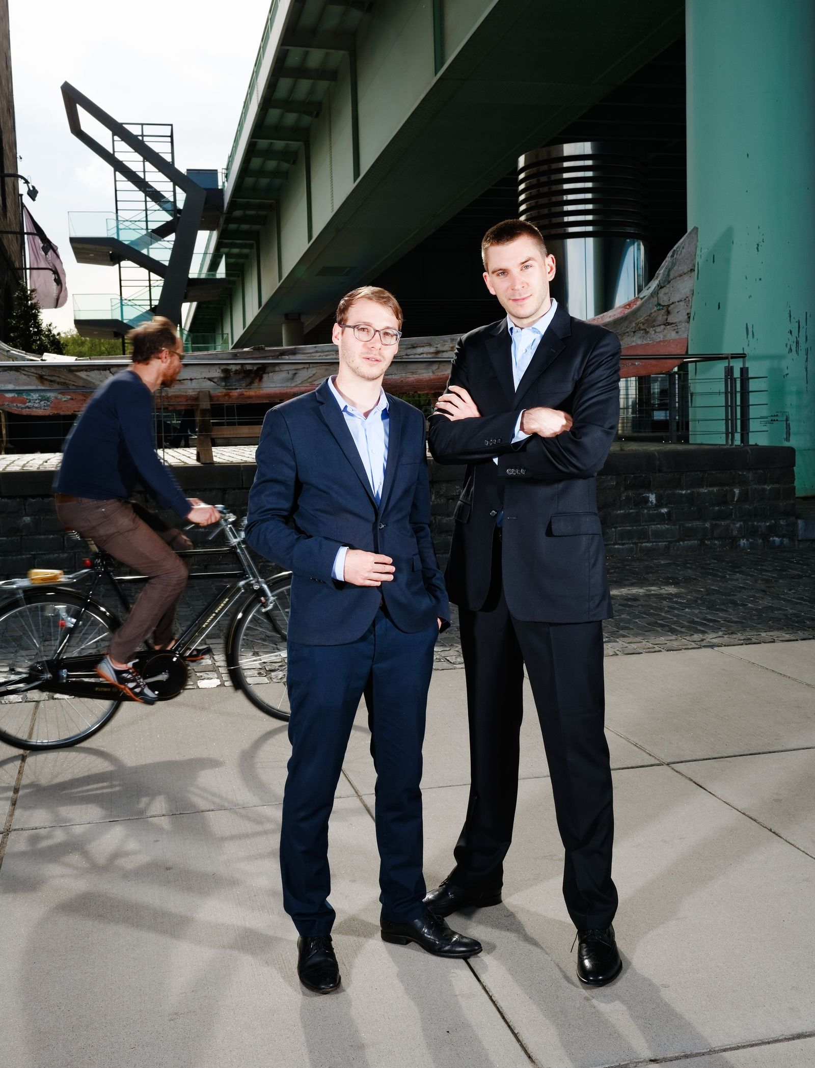 EINMALIGE VERWENDUNG Nicolas Schmidlin (l.) und Marc Profitlich