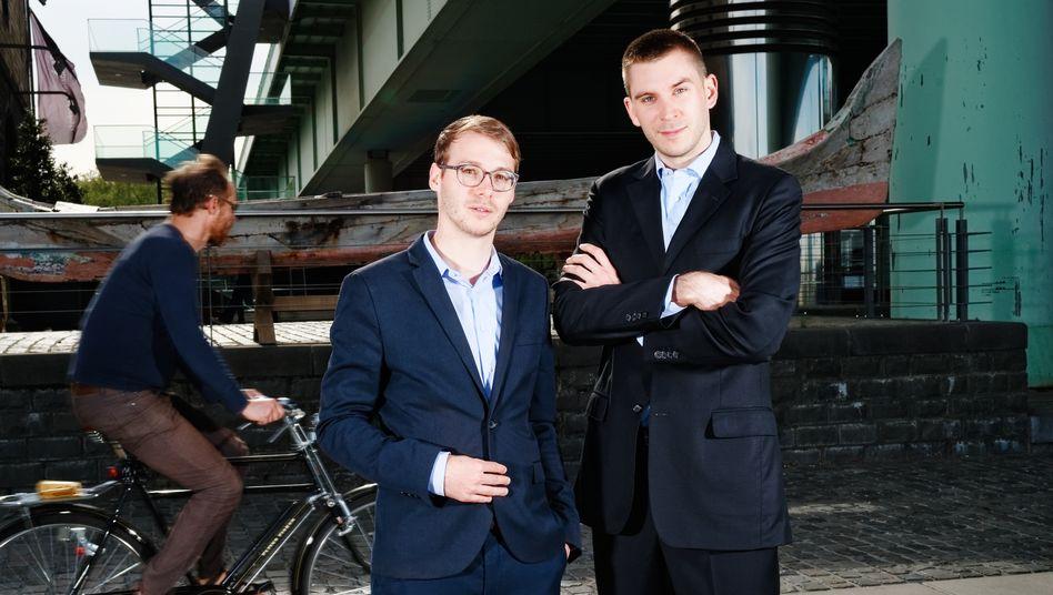 Managernachwuchs: Nicolas Schmidlin (l.) und Marc Profitlich gründeten als Studenten einen Investmentklub, aus dem am Ende ihr Fonds entstand
