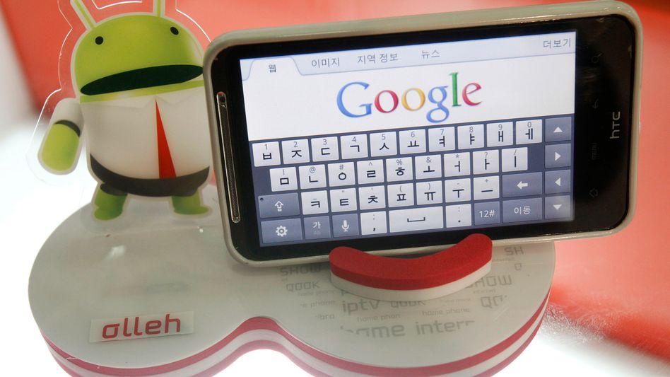 Jetzt musizieren sie auch noch: Android-Smartphone mit Google-Seite