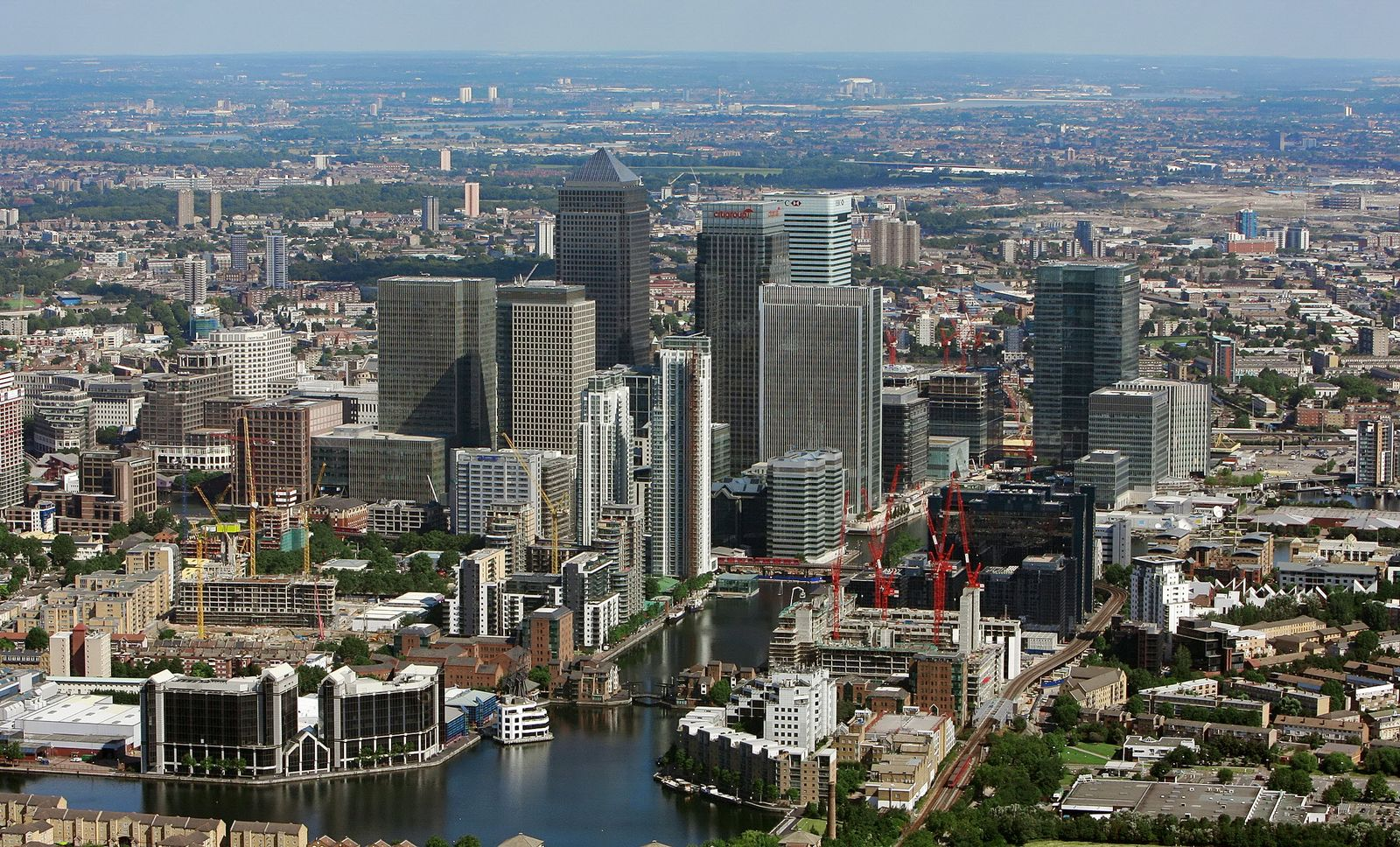Londons neues Finanzzentrum / Canary Wharf / Isle of Dogs / Borough of Tower Hamlets / Bankenviertel