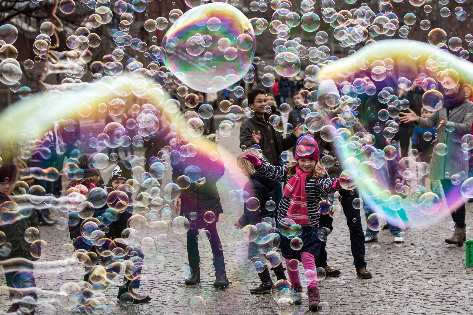 Seifenblasen in Köln