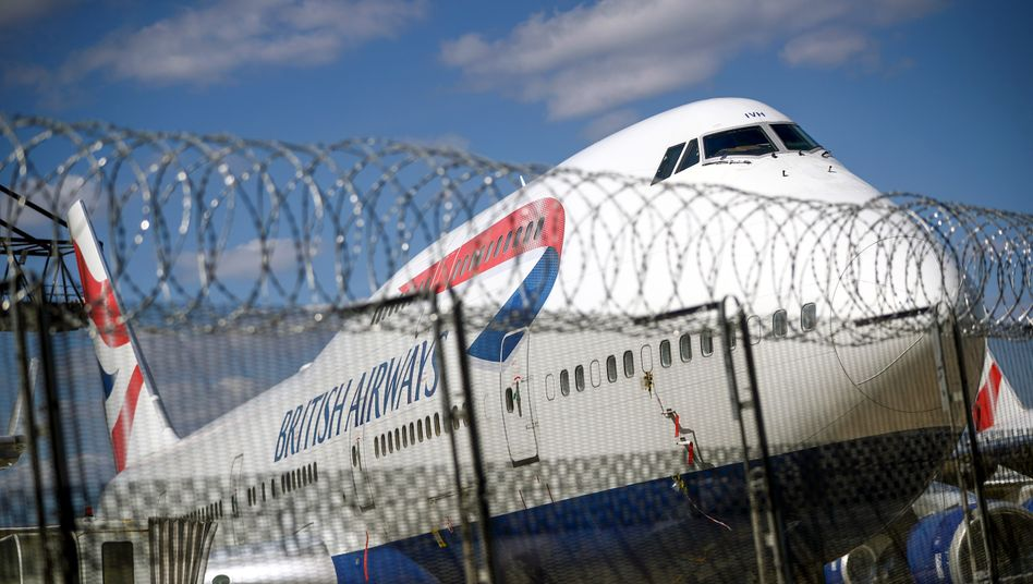 Modellikone vor dem Aus: Stillgelegte Boeing 747 von British Airways in London