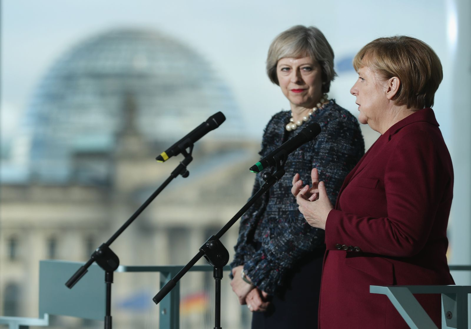Theresa May & Angela Merkel
