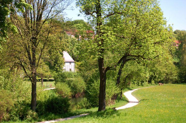 Durch den Ilmpark in Weimar mit Goethes Gartenhaus führt eine beliebte Radstrecke