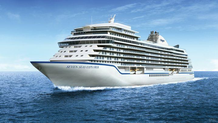 """Purer Luxus wartet auf die 750 Gäste auf der """"Seven Seas Explorer""""."""