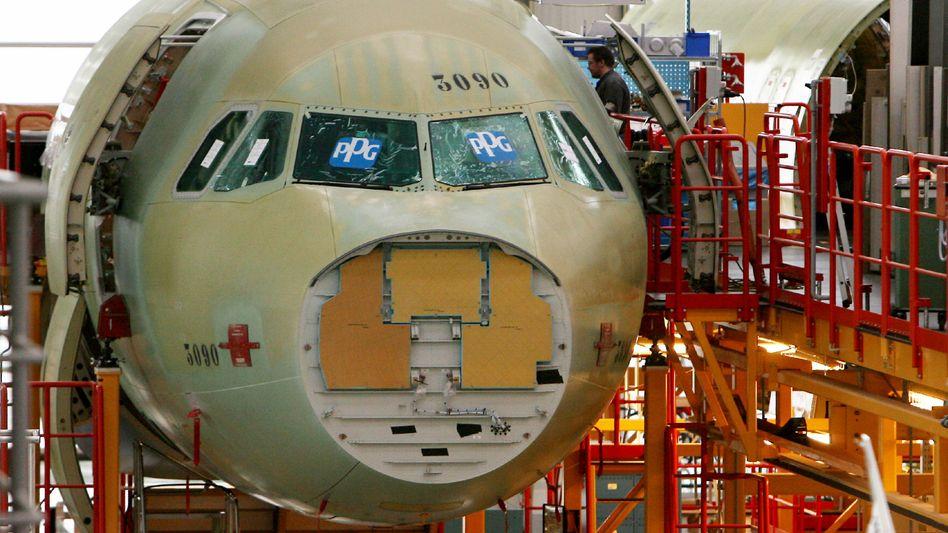 Airbus-Produktion in Hamburg-Finkenwerder