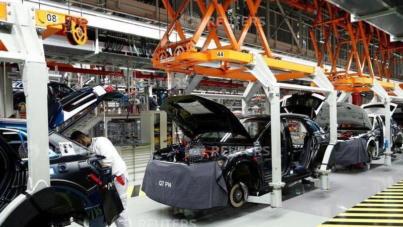 Steht aktuell still: e-tron-Produktionslinie im Werk Brüssel