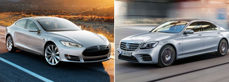 Tesla Model S, Mercedes S-Klasse