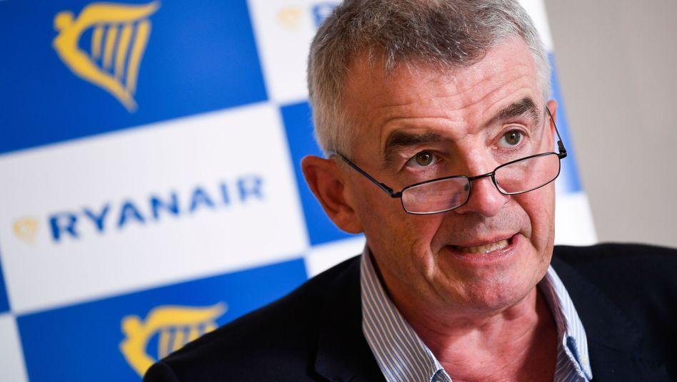 Ryanair-CEO Michael O'Leary: Der Manager attackiert gerne - diesmal die Lufthansa.