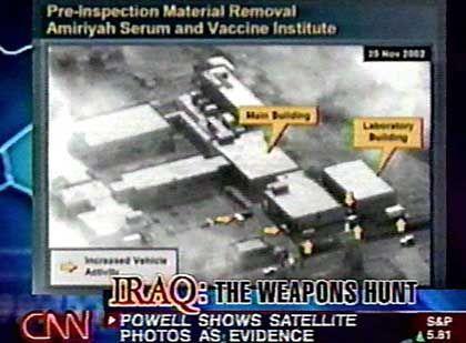 Satelliten-Aufnahme: In diesem Gebäude sollen Massenvernichtungsmittel hergestellt worden sein