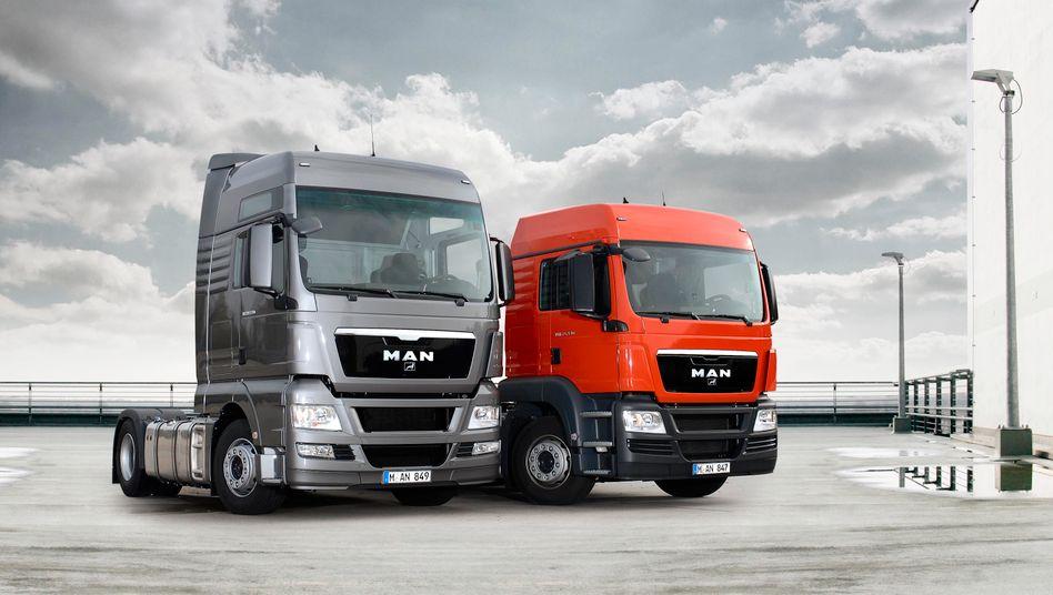 Lkw von MAN: Der Hersteller verzeichnete einen Gewinneinbruch