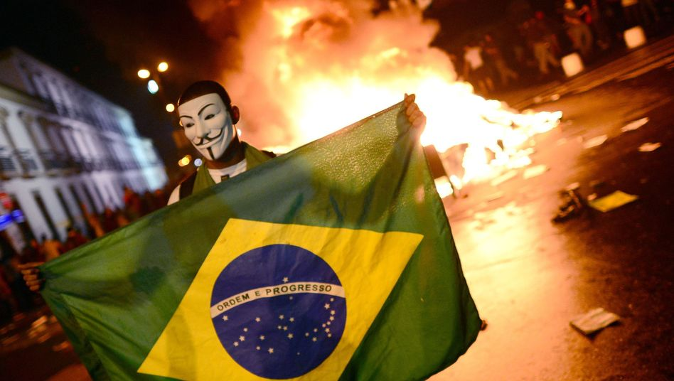 Demonstrant in Rio de Janeiro: Volksabstimmung droht zu scheitern