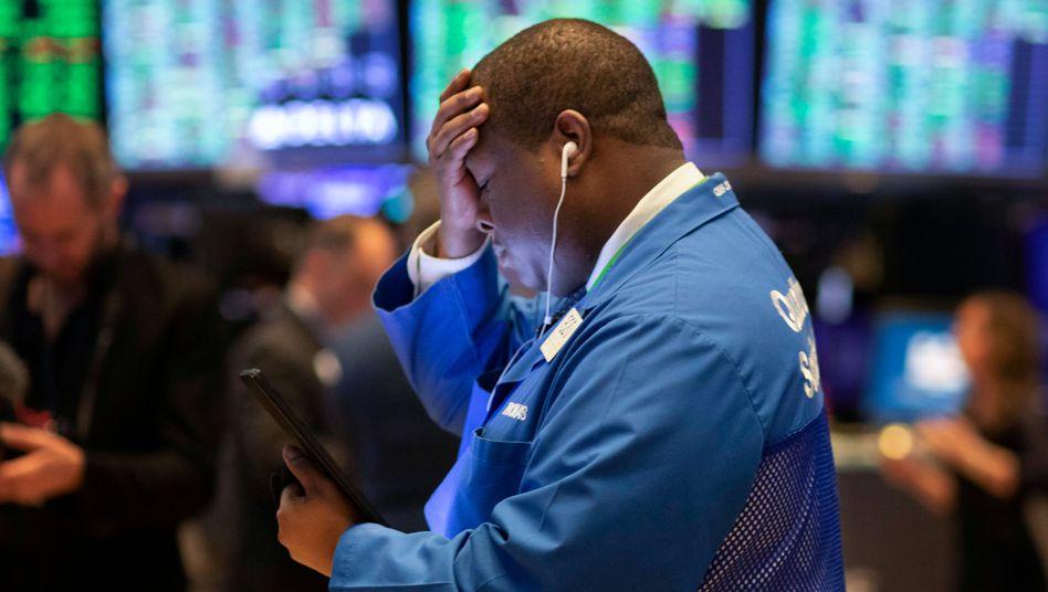 Aktienhändler in New York: Die Kurse an der Börse bereiten momentan wenig Freude