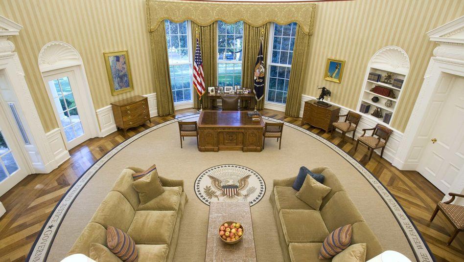 Oval Office des US-Präsidenten im White House