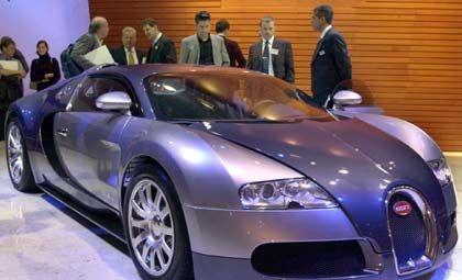 Schon oft da gewesen, nun zum ersten Mal als Serienauto: Bugatti Veyron, das Wunderauto aus dem Volkswagen-Konzern