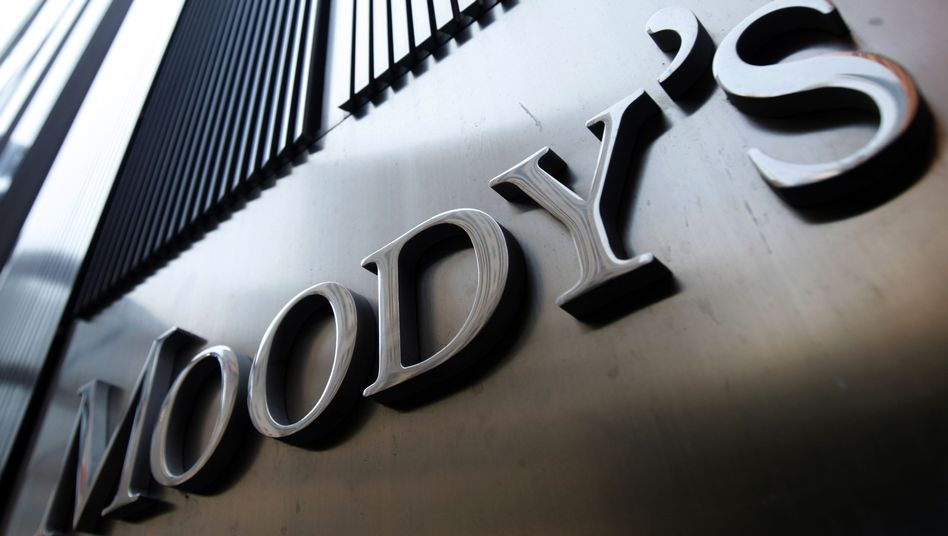 Moody's in New York: Die US-Ratingagentur sieht auch die Bonität von Banken bedroht