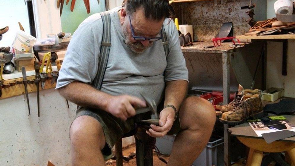 Hand und Fuß: Der Bertl in seinem Münchener Atelier