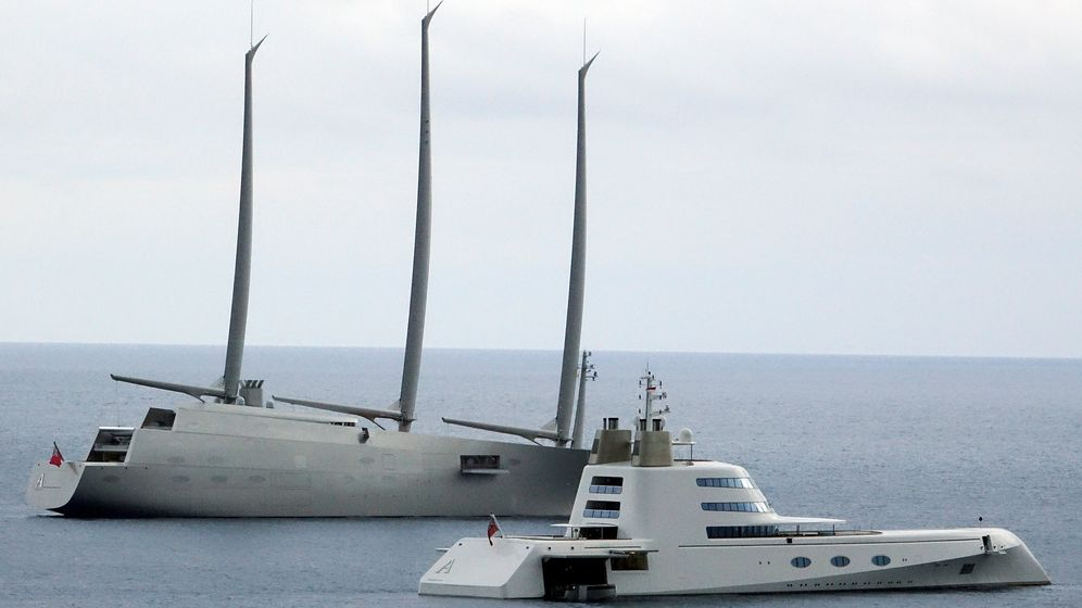 Segelyacht A und Motoryacht A in Monaco: Treffen der Giganten