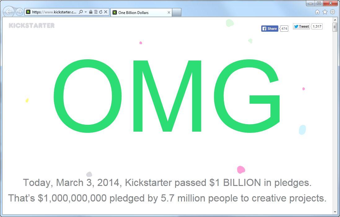 SCREENSHOT www.kickstarter.com