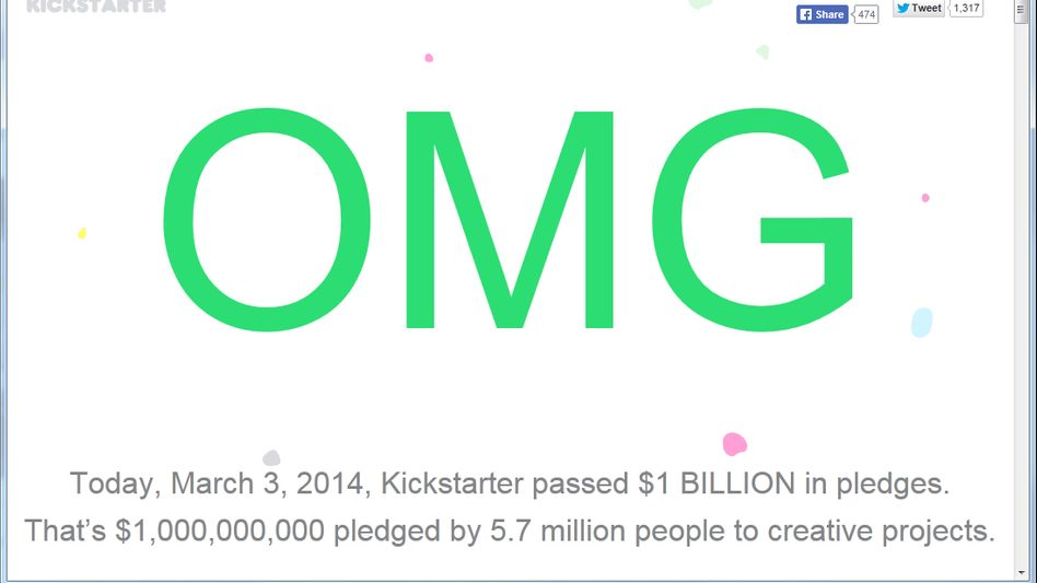 """""""Oh My God"""": So publiziert Kickstarter die Nachricht auf der eigenen Website"""