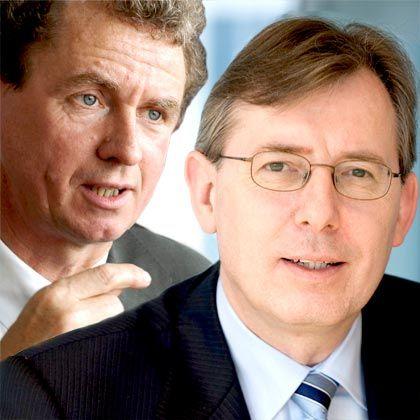Kontrahenten: BCG-Weltchef Hans-Paul Bürkner (rechts) und Seniorpartner Dieter Heuskel