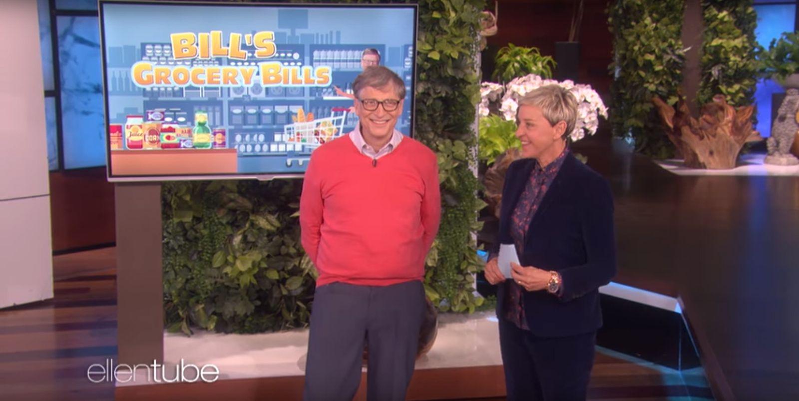 EINMALIGE VERWENDUNG SCREENSHOT Youtube ellentube / Bill Gates