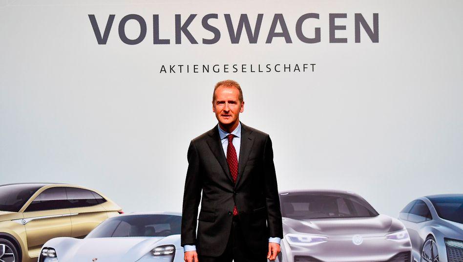 VW-Chef Herbert Diess: Enorme Machtfülle - und mehr Tempo bei Entscheidungen