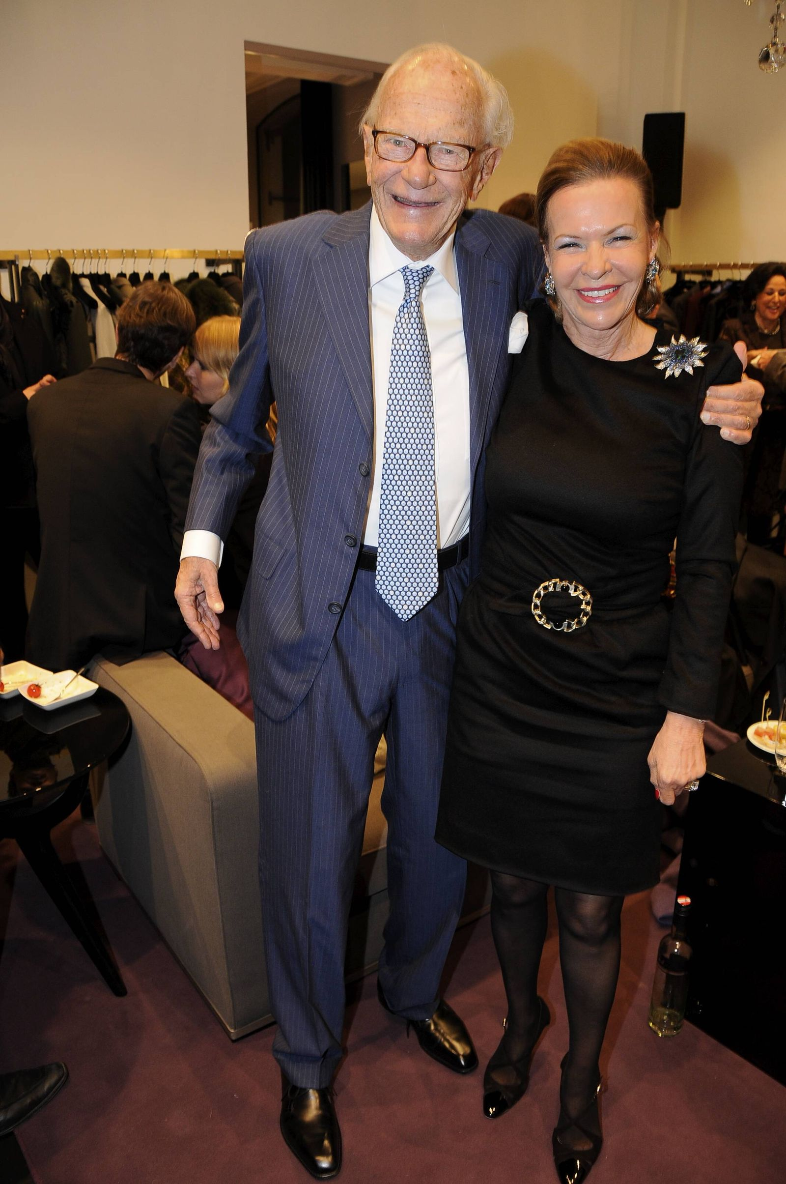 EINMALIGE VERWENDUNG Curt Engelhorn und Ehefrau