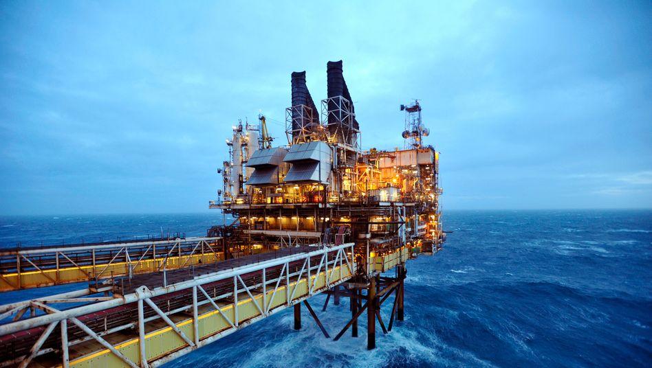 Ölplattform von BP in der Nordsee