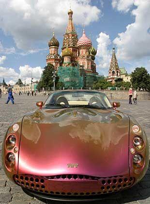 In russischer Hand: TVR Tuscan auf dem roten Platz in Moskau