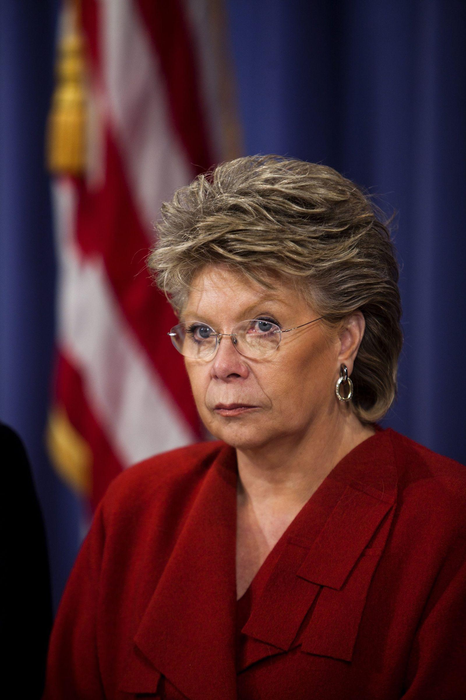 Napolitano and Holder Speak to Meida After U.S.-E.U. Justice Mini