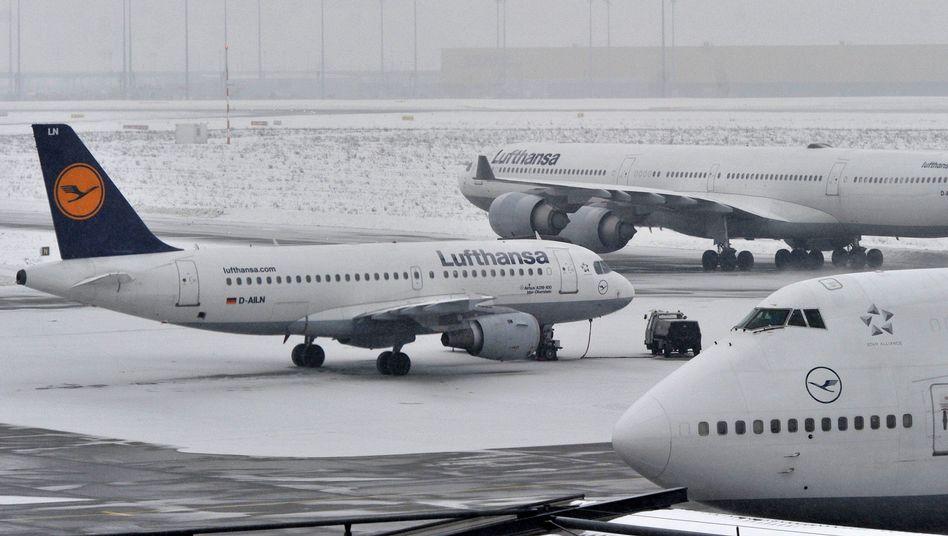Lufthansa-Maschinen in Frankfurt: Deutschlands größte Airline ist optimistisch