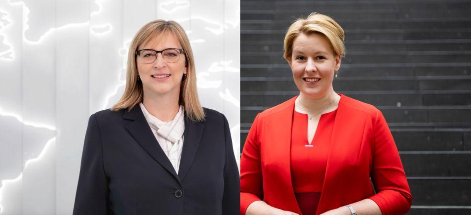 Haben was zu sagen: VW-Vorständin Hiltrud Werner (l.) und Ministerin Franziska Giffey.