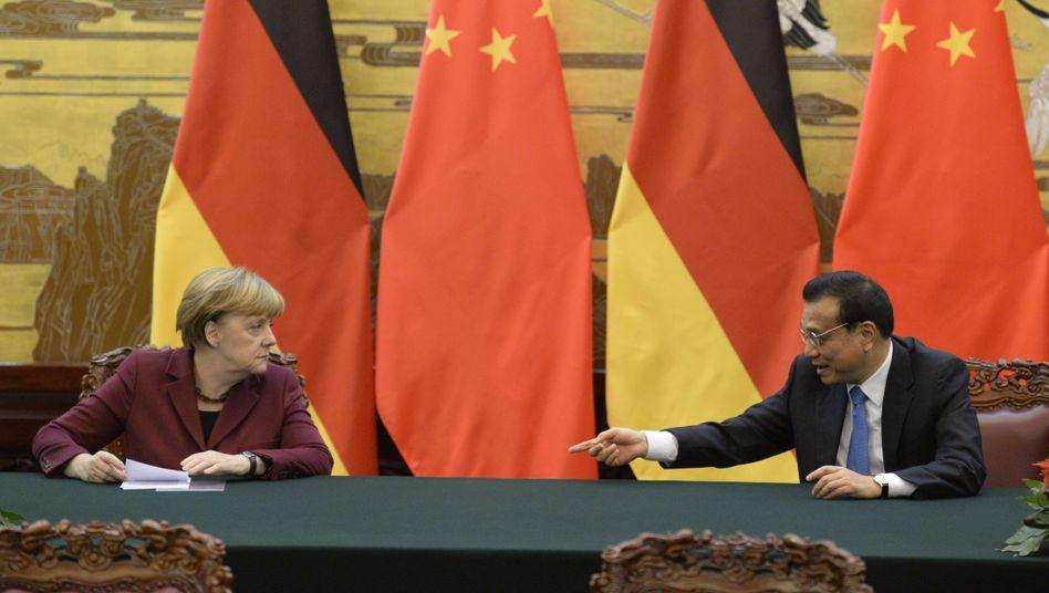 """Angela Merkel und Li Keqiang in Peking: """"Vertrauen in die chinesische Wirtschaft"""""""