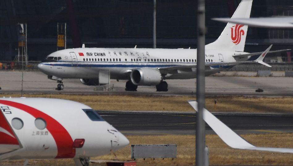 Maschine von Air China in Peking: In Kürze wird die Airline nicht mehr in die USA fliegen dürfen.