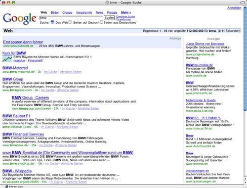 Schwieriges Geschäft: BMW-Suche bei Google