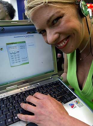 Das Ende der Bildschirmtastatur: Über Hospots oder UMTS funktioniert VoIP auch ohne klobige Rechner