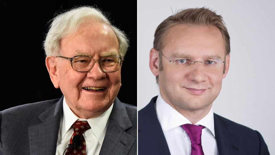 Altmeister und Kontrahent: Warren Buffett (l.) und Eckhard Sauren