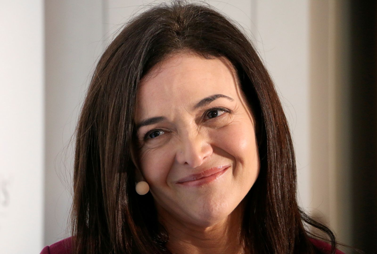 FILE PHOTO: Facebook Chief Operating Officer Sandberg attends an event on the sidelines of the World Economic Forum in Davos